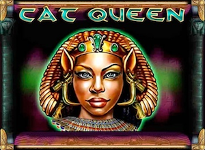 slot machine cat queen logo