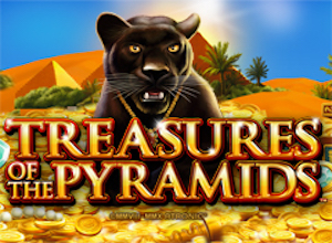 slot machine treasures pyramids logo