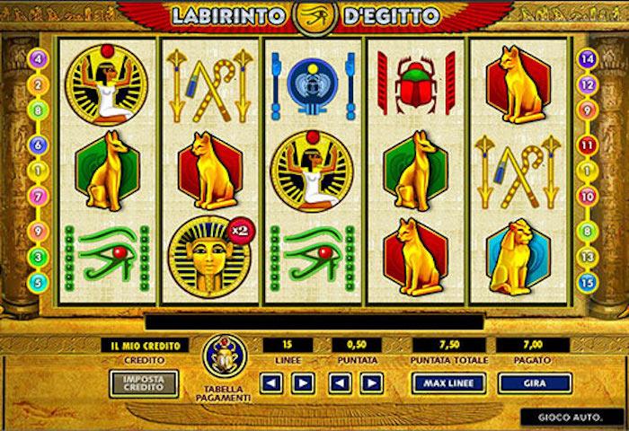 slot machine labirinto egitto