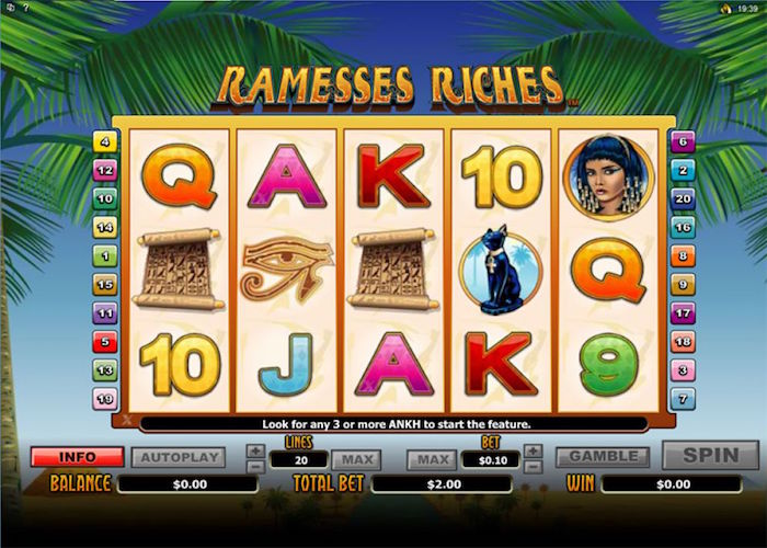 slot machine ramesses riches