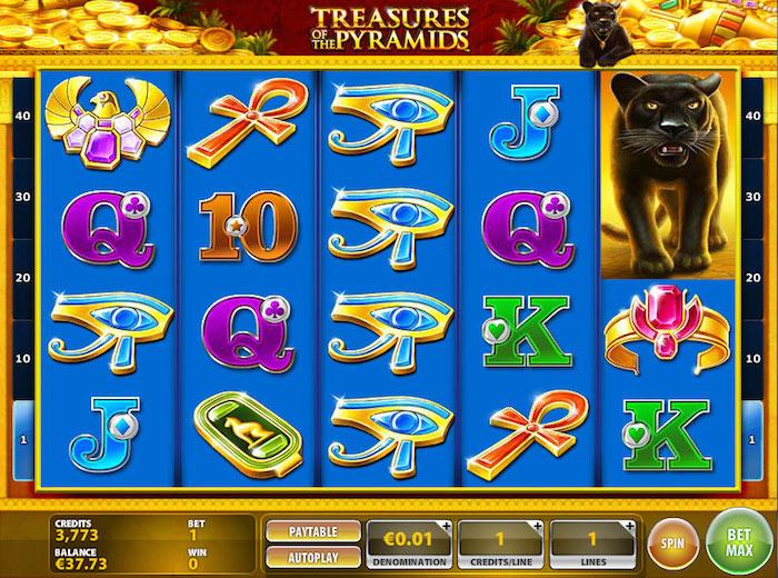slot machine treasures pyramids